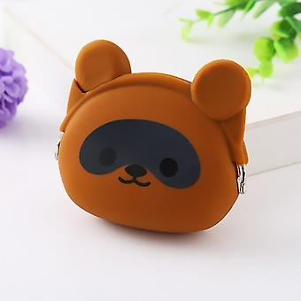 Tegneserie Animal Cute Hund Pig Silica Mini Coin Pung Kids Tegnebog