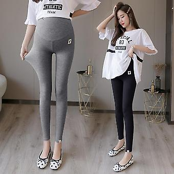 Summer Thin Modal Maternity Legging, High Waist Adjustable Belly Clothes
