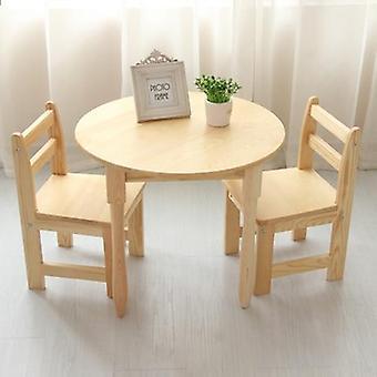 1 Masa +2 Sandalye Setleri Masif Ahşap Çocuk Mobilya Setleri Çocuk Çalışma Masası