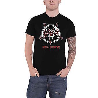 Slayer T Shirt Hell Awaits Tour Band Logo new Official Mens Black