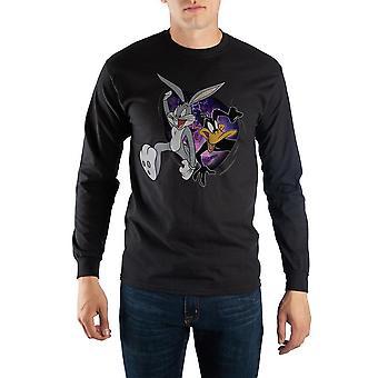 Black looney tunes space jam long sleeve t-shirt