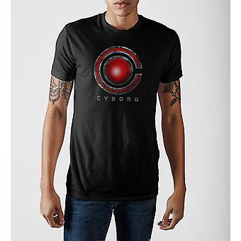 Justice league cyborg logo t-shirt