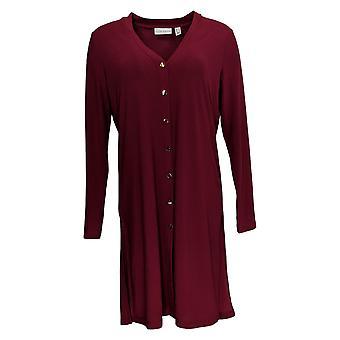 Susan Graver Women's Sweater Textured Liquid Knit Cardigan Purple A279768