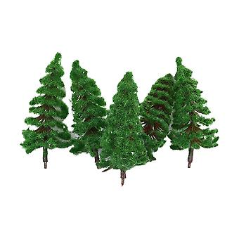 5pcs Model Pine Trees Architecture Trees for DIY Scenery Landscape Railway House