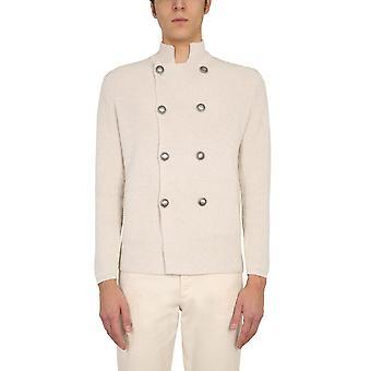 Brunello Cucinelli M2873326c2430 Hombres's White Cotton Cardigan