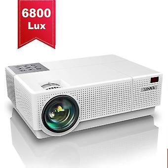 Yaber projector 6800 lumen 1920x1080p native full hd projectors, ±50° 4d digital keystone correcti