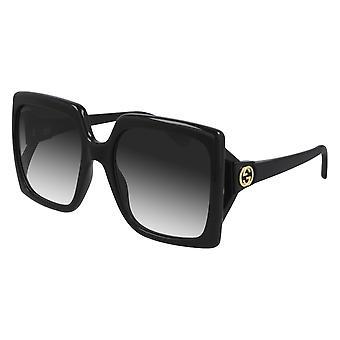 Gucci GG0876S 001 Musta/Harmaa Kaltevuus Aurinkolasit