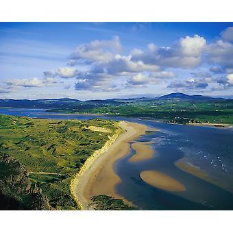 Trawbreaga Bay fem Finger Beach Inishowen Co Donegal Irland PosterPrint