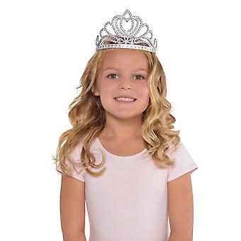 Tiara Mädchen 15 cm Silber Einheitsgröße
