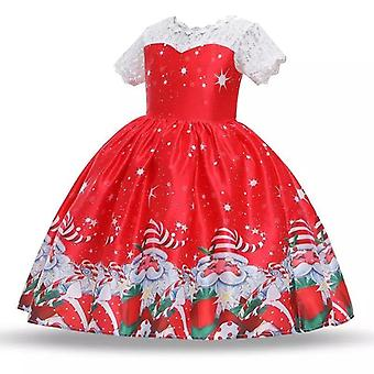 Princess Christmas New Year Santa Claus Snowflake Dress