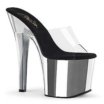 Pleaser Women's Chaussures RADIANT-701 Clr/Slv Chrome