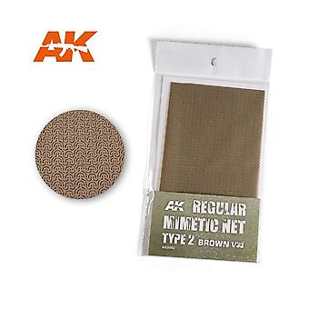 AK Interactive AK8062 Camouflage Net Brown Tipo 2