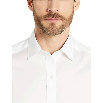 Merk - Buttoned Down Men's Tailored Fit Performance Tech Stretch Dress Shirt, Supima Cotton Easy Care