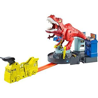 Hot Wheels T-rex Attack Play Set-fun Sound Rotating Dinosaur