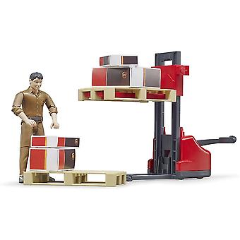 Bruder - Logistics UPS Figure With Fork Lift  1:16  62210