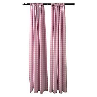 La Leinen Pack 2 Polyester Gingham karierten Hintergrund, 58 von 96-Zoll, rosa/weiß