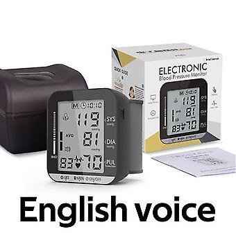 Medical equipment wrist blood pressure monitor lcd automatic digital heart rate pulse portable equipment sphygmomanometer