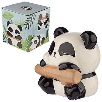 Boîte d'argent en céramique de panda de collection