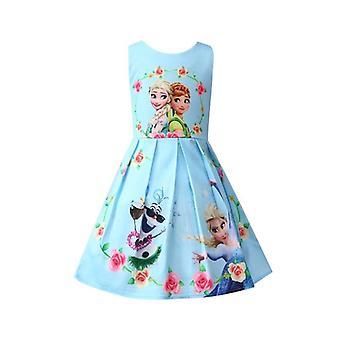 Vestidos de Ice Snow Elsa, vestido de fiesta de cumpleaños