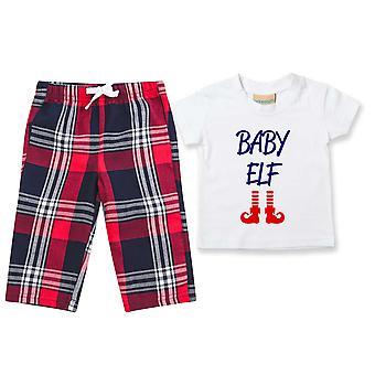 Kinder Baby Elf Tartan Hose Pyjamas