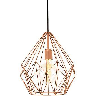 Wokex Pendellampe Carlton, 1 flammige Vintage Pendelleuchte, Retro Hngelampe aus Stahl, Farbe: