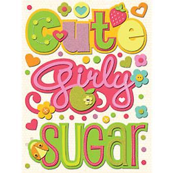 K & Co - Berry Sweet Words Felt Stickers