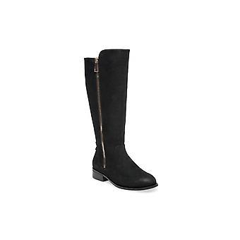 Steve Madden Womens Rhapsody Fabric Almond Toe Knie High Riding Boots