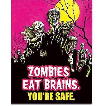 Zombit syövät aivojen tin-merkkiä