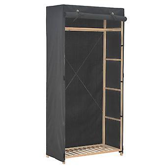vidaXL خزانة رمادية 79 × 40 × 170 سم النسيج