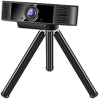 FengChun Webcam 1080P Full HD mit Mikrofon, PC Laptop Kamera Plug and Play USB Webkamera mit
