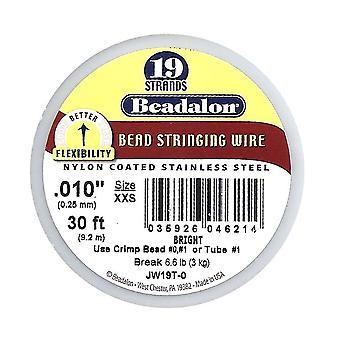 Beadalon Wire Standard Ljus 19 Strand .010 Tum / 30Ft