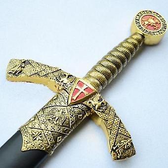 """Ridder tempelier kruis zwaard met muur mount & schede 42.7"""""""