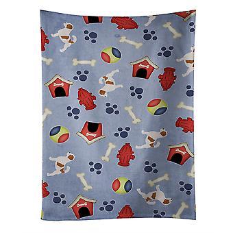 """Caroline es Treasures Bb3907Ktwl Jack Russell Terrier Küchentuch, 25 ""X 15"", Multicolor"""