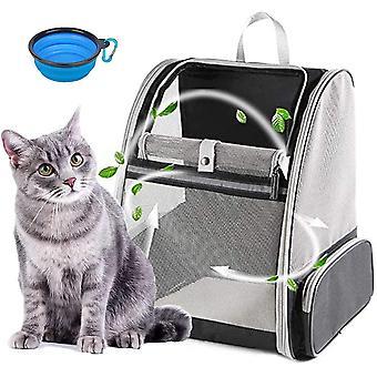 Katzenrucksack,Hunderucksack,Faltbarer und Belüfteter Haustierrucksack Transport,Interner