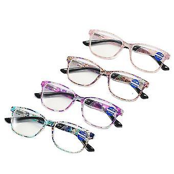 4 Pair reading glasses blue light blocking anti eyestrain rg-23
