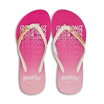 BeachyFeet Womens/Ladies San Antonio x Amnesia Flip Flops