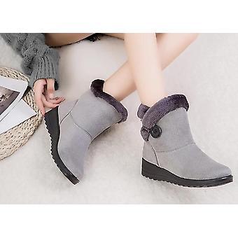 Women Solid Flat Plush Warm Snow Boots