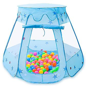 Sininen lasten teltta leikkimökki, suuret taitettavat vauvalelut az19018