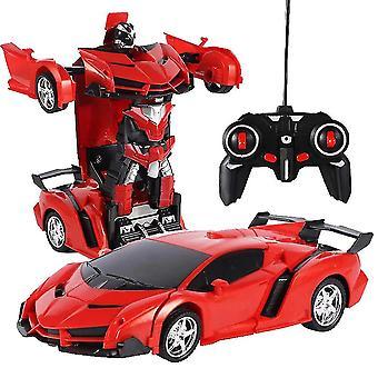 لتشوه 360 درجة روبوت 2.4 غيغاهرتز عن بعد تشوه سيارة روبوت الأطفال الأطفال سيارة اللعبة| RC روبوت (أحمر) WS17988