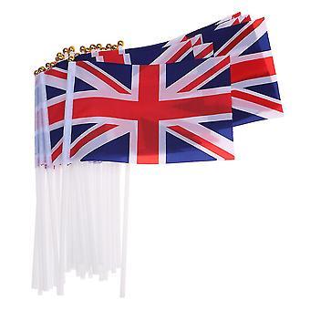 """דגל האיחוד של איחוד 50pcs צבעוני קטן 14 * 21 ס""""מ דגל נבחרת בריטניה עבור המפלגה dt2126"""