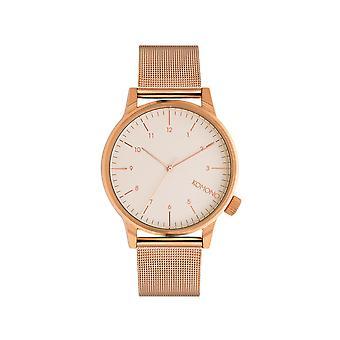 KOMONO Winston royale rose gold-white - reloj unisex