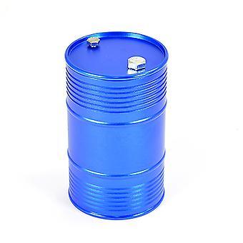 Fastrax aluminium anodisert oljetrommel M/avtakbart lokk - blå