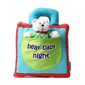 Bear Baby Night Cartoon 3d Cloth Family Enlightenment Interactive Fabric Book
