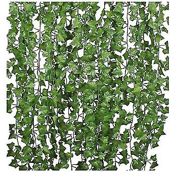 12/24/36 Strands Artificial Ivy Leaf Plants Vine , For Home Kitchen Garden Office Wedding Wall