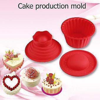 Rode Reuze Grote Silicone Cupcake Cakevorm Bovenkant Cupcake Bakbakvorm