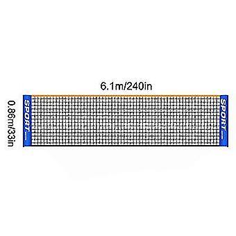 Bærbare Folding Simple 3m 4m 5m 6m Tennis Net Badminton Net (6m)