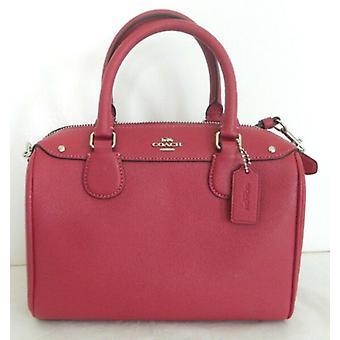 Coach F57521 mini Bennett Hot Pink Leather Satchel Crossbody