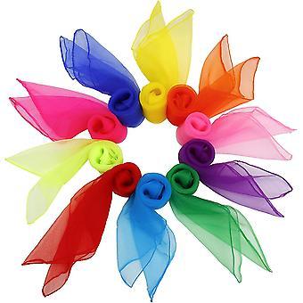 Tanz Tücher 20 stück Bunt Square Jongliertücher Performance Schals für Kindergarten Kinder Mädchen