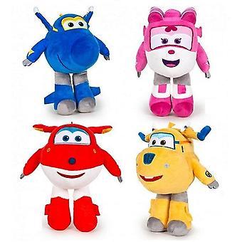 4-Pack Master Flyers Super Wings Jett,Jocke,Bibbi,Meral Stuffed Animals Plush Toys