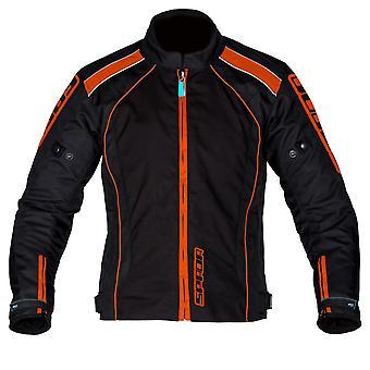 Spada Plaza CE WP Motorcycle Jacket Black KTM Orange